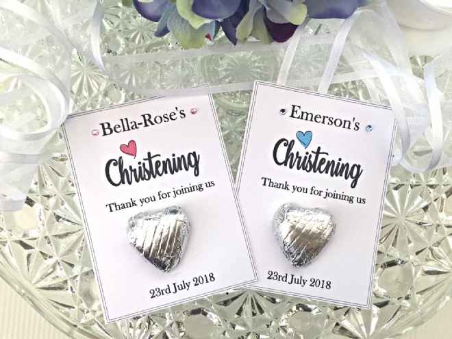 Chocolate Christening Favours